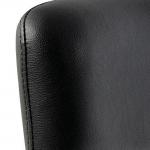Black-Backrest-stool